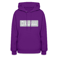 Hoodies ~ Women's Hoodie ~ Not available on the App Store - Grey