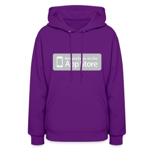 Not available on the App Store - Grey - Women's Hoodie