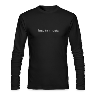 Long Sleeve Shirts ~ Men's Long Sleeve T-Shirt by Next Level ~ lost in music long-sleeve men's T
