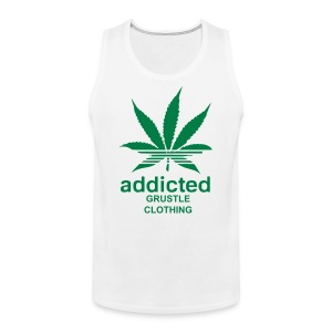 Grustle  ADDICTED  Mens TANK - Men's Premium Tank