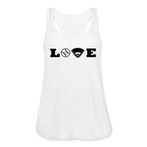 Love baseball tank - Women's Flowy Tank Top by Bella