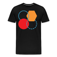T-Shirts ~ Men's Premium T-Shirt ~ Mens Shirt // Abstract Four