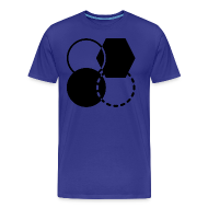 T-Shirts ~ Men's Premium T-Shirt ~ Mens Shirt // Abstract Four Monochrome