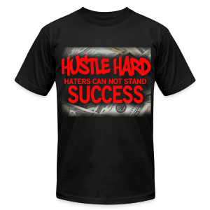 MEN HUSTLE HARD - Men's Fine Jersey T-Shirt