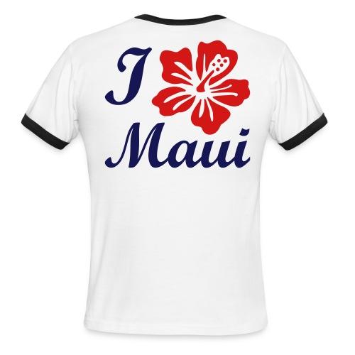 I Love Maui Red - Men's Ringer T-Shirt