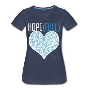 Hope(full) Tee - Blue - Women's Premium T-Shirt