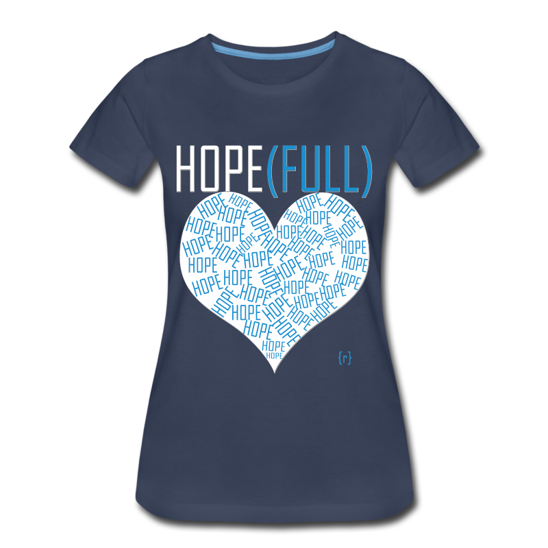 Hope(full) Tee - Blue - Women's Premium T-Shirt