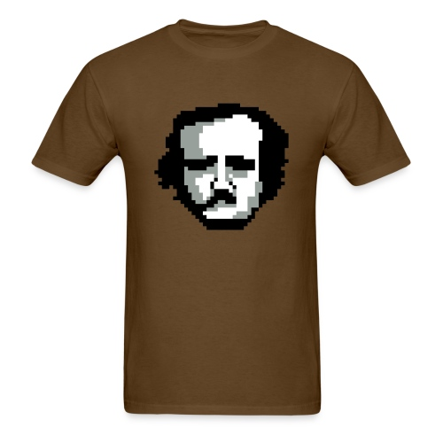 Pixel Poe - Brown - Men - Men's T-Shirt
