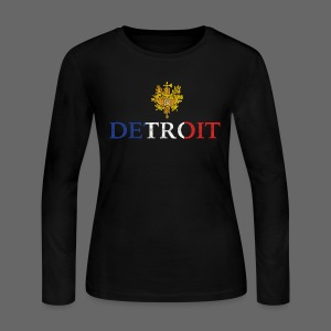 Detroit French COA - Women's Long Sleeve Jersey T-Shirt