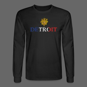 Detroit French COA - Men's Long Sleeve T-Shirt