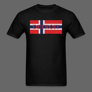 Detroit Norway Flag  - Men's T-Shirt