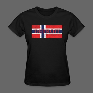 Detroit Norway Flag  - Women's T-Shirt