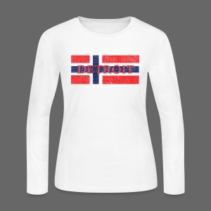 Detroit Norway Flag  - Women's Long Sleeve Jersey T-Shirt