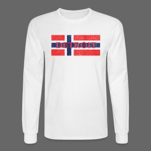 Detroit Norway Flag  - Men's Long Sleeve T-Shirt