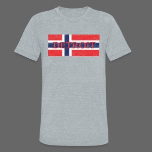 Detroit Norway Flag  - Unisex Tri-Blend T-Shirt by American Apparel