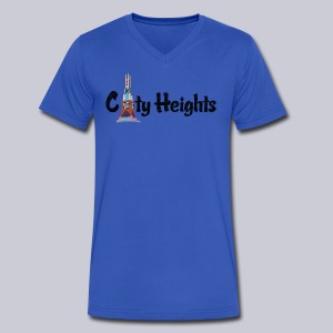 City Heights San Diego  - Men's V-Neck T-Shirt by Canvas