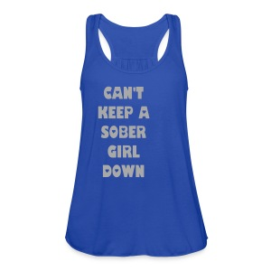 Can't Keep A Sober Girl Down Silver Glitter-Tank - Women's Flowy Tank Top by Bella