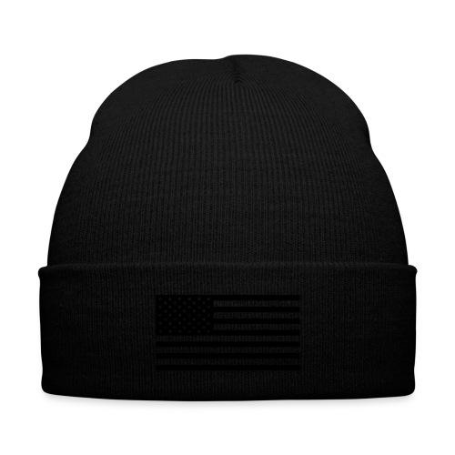 BLVCK FLAG Beanie - Knit Cap with Cuff Print