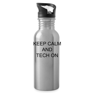 keep  calm and tech on - Water Bottle