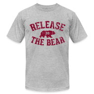 T-Shirts ~ Men's T-Shirt by American Apparel ~ Release the Bear - Men's - Grey