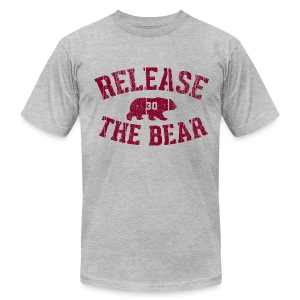 Release the Bear - Men's - Grey - Men's T-Shirt by American Apparel