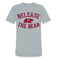 T-Shirts ~ Unisex Tri-Blend T-Shirt ~ Release the Bear - UNISEX Grey Tri-Blend
