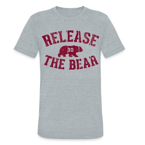 Release the Bear - UNISEX Grey Tri-Blend - Unisex Tri-Blend T-Shirt by American Apparel
