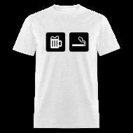 T-Shirts ~ Men's T-Shirt ~ Beer & Smoke