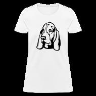 Women's T-Shirts ~ Women's T-Shirt ~ Basset Hound