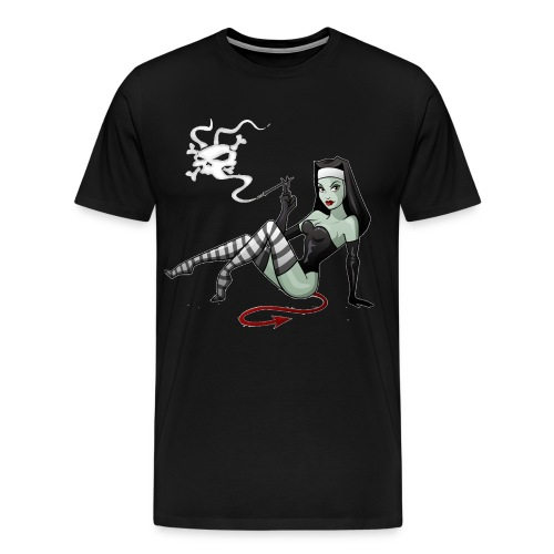 Men's Premium T-Shirt - zombie,yamaha,wwii,vintage,unique,triumph,tattoo,suzuki,sticker,sexy,sex,satan,rockabilly,rock and roll,retro,rat rod,rat,pinup,pin up,patriotic,nude,nose art,norton,new,naked,motorcycle,military,kawasaki,hot rod,honda,heavy metal,gas tank,flag,evil,enfield,ed roth,dragster,devil,classic,chopper,chick,cafe racer,bsa,bomber,bobber,biker,american,airplane