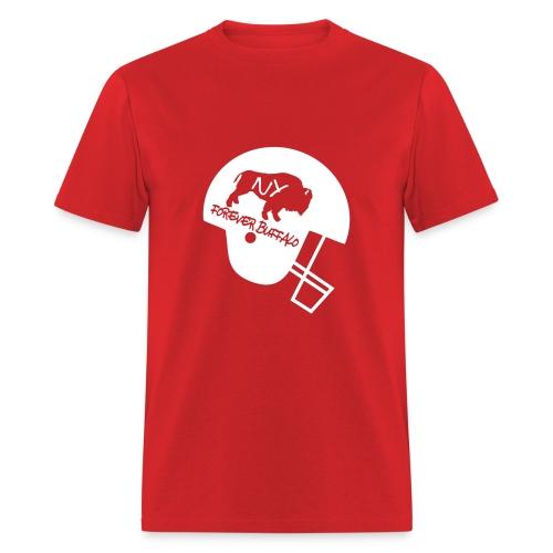 Forever Buffalo Football Helmet in Red - Men's T-Shirt