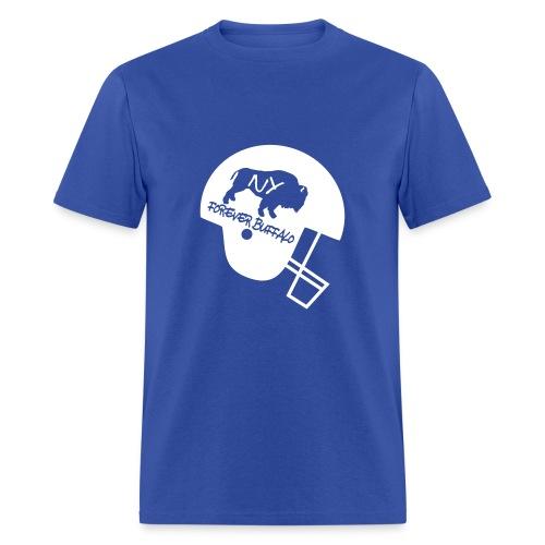 Forever Buffalo Football Helmet in Blue - Men's T-Shirt