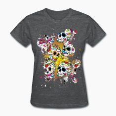 Sugar Skulls Women's T-Shirts