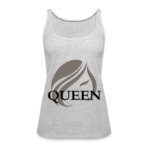 Queen Gray Women's Premium Tank Top by Ms. Marie - Women's Premium Tank Top