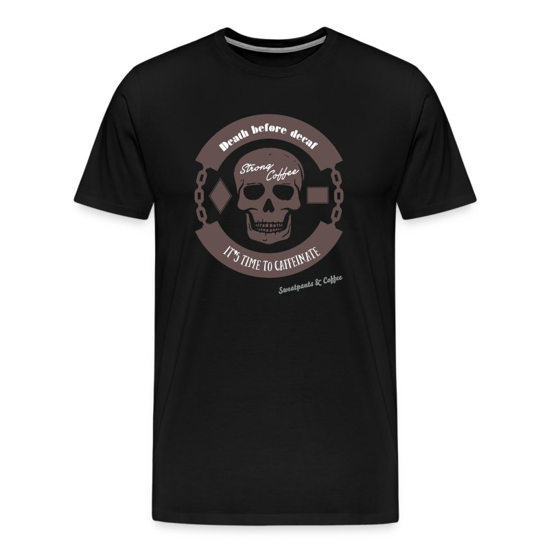 Death Before Decaf Tanktop - Men's Premium T-Shirt