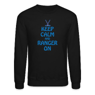 Long Sleeve Shirts ~ Men's Crewneck Sweatshirt ~ Keep Calm Ranger On