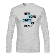 Long Sleeve Shirts ~ Men's Long Sleeve T-Shirt by American Apparel ~ New York State of Mind
