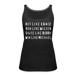 North Hit Run Skate Win - Women's Premium Tank Top