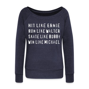 North Hit Run Skate Win - Women's Wideneck Sweatshirt