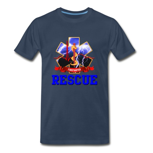 Star of Life 2 - Rescue - Firefighter - Men's Premium T-Shirt