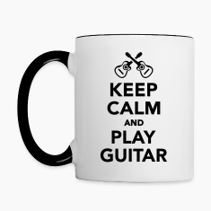 Keep calm and Play guitar Bottles & Mugs