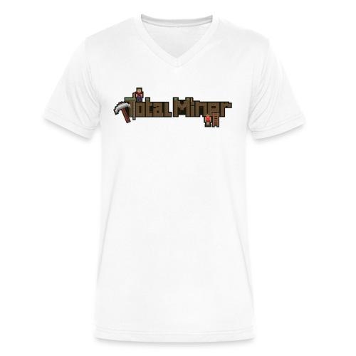 Total Miner Logo V-Neck T-Shirt - Men's V-Neck T-Shirt by Canvas