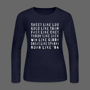 Sweet like Lou and Great like Sparky  - Women's Long Sleeve Jersey T-Shirt