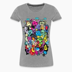 Colorful Monsters Women's premium T-shirt