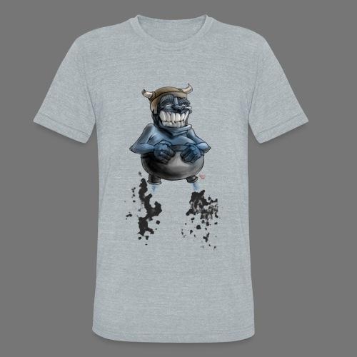 Tricky Warrior Dwarf Demon - TRI Blend Tee - Unisex Tri-Blend T-Shirt