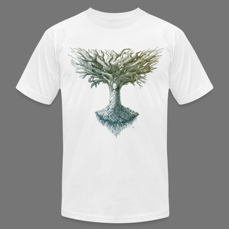 The Tree Of Many Things - Men's T-Shirt by American Apparel