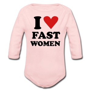Heart Fast Women / LS Onesie  / Baby - Long Sleeve Baby Bodysuit