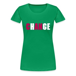 ChANge - Pink/Green Wms - Women's Premium T-Shirt
