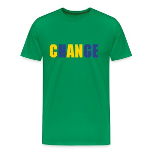 ChANge - Green/Nvy/Yellow Mns - Men's Premium T-Shirt