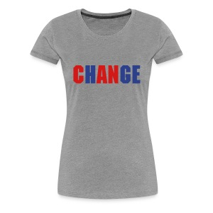 ChANge - Gray/Blue/Red - Wms - Women's Premium T-Shirt